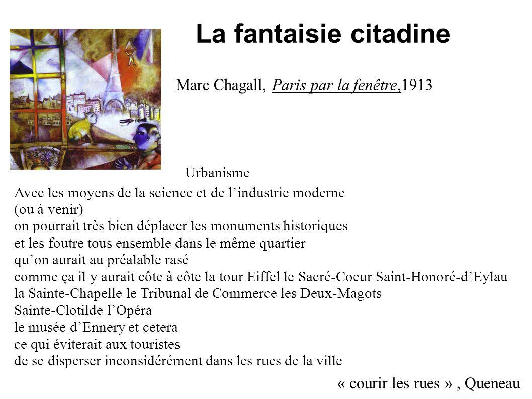 La fantaisie citadine Marc Chagall, Paris par la fenêtre,1913