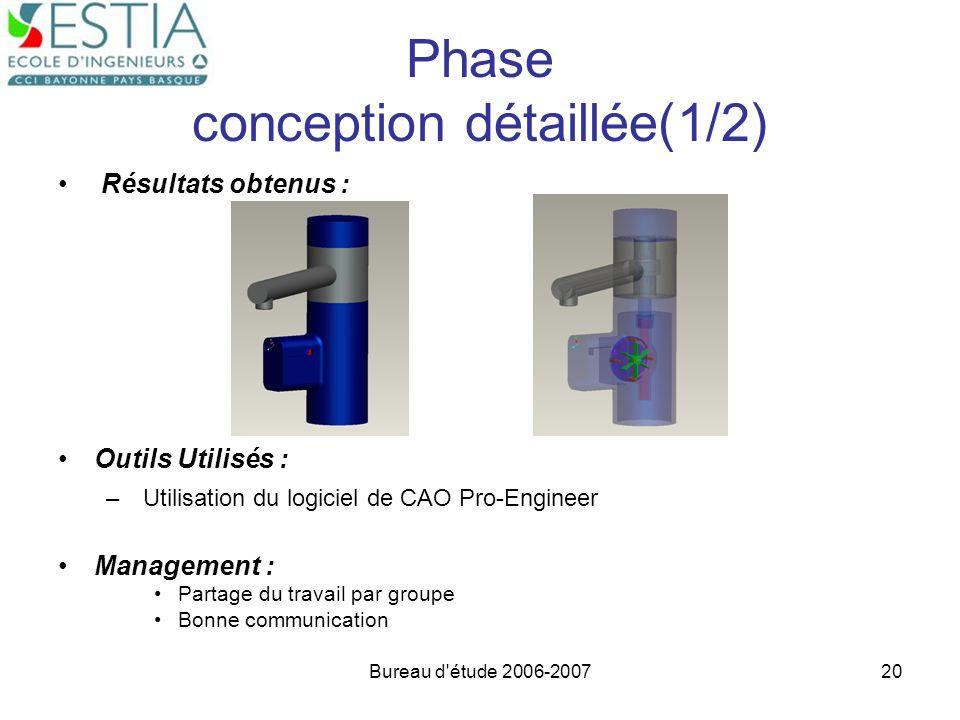 Phase conception détaillée(1/2)
