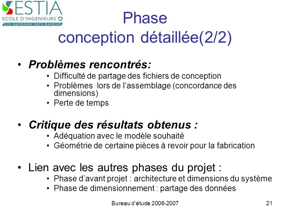 Phase conception détaillée(2/2)