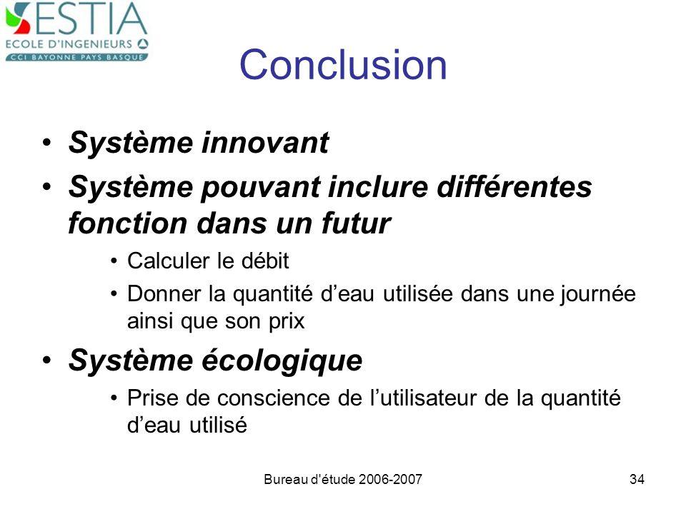 Conclusion Système innovant