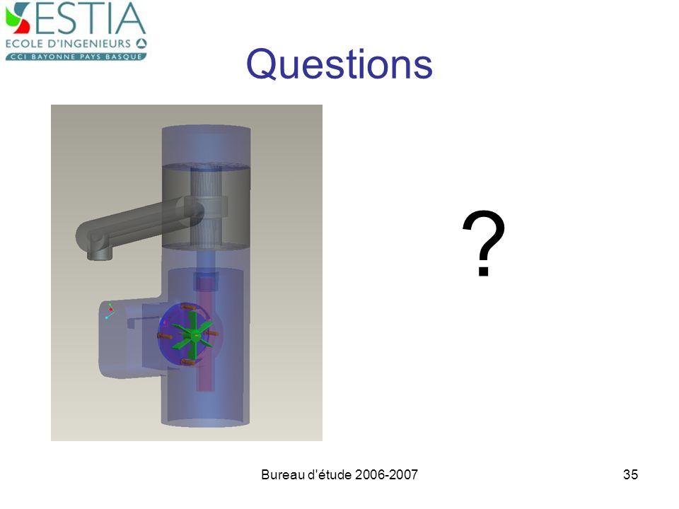 Questions Bureau d étude 2006-2007