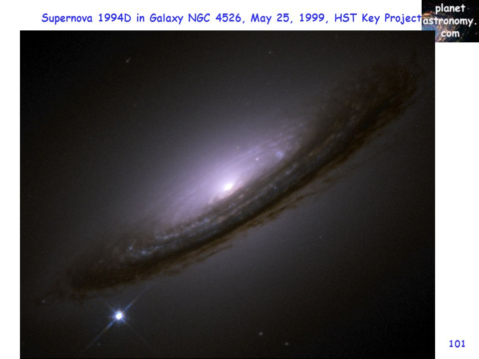 Supernova 1994D in Galaxy NGC 4526, May 25, 1999, HST Key Project