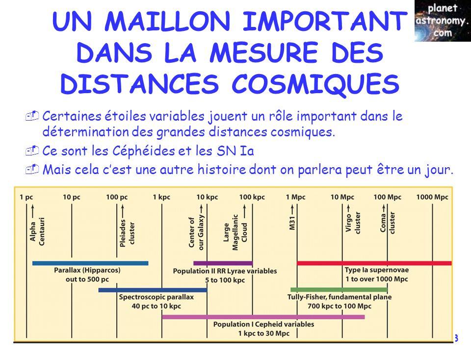 UN MAILLON IMPORTANT DANS LA MESURE DES DISTANCES COSMIQUES