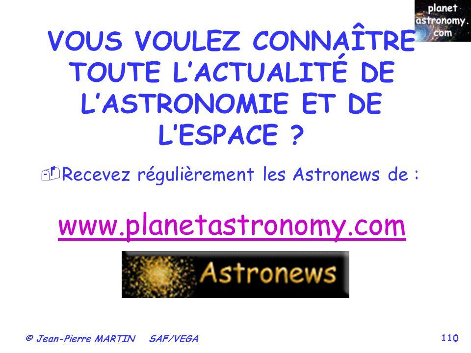 VOUS VOULEZ CONNAÎTRE TOUTE L'ACTUALITÉ DE L'ASTRONOMIE ET DE L'ESPACE