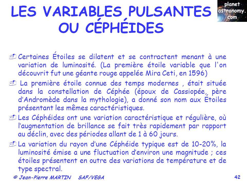LES VARIABLES PULSANTES OU CÉPHÉIDES