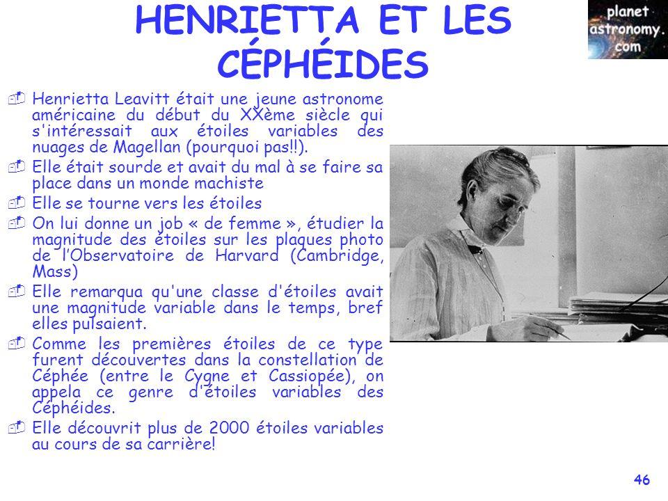 HENRIETTA ET LES CÉPHÉIDES