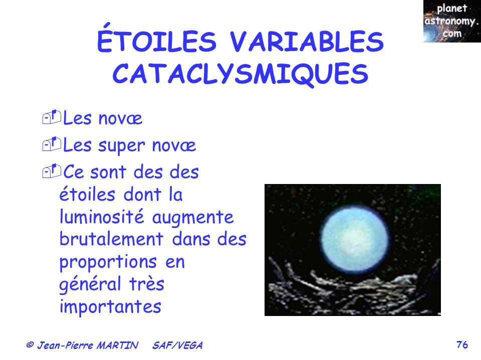 ÉTOILES VARIABLES CATACLYSMIQUES