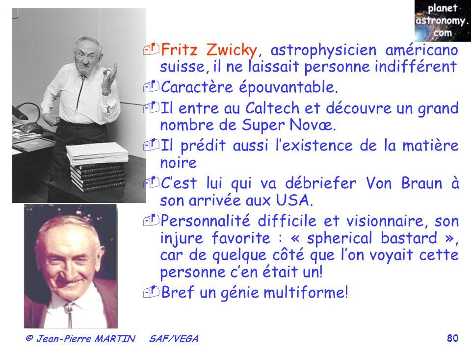 Fritz Zwicky, astrophysicien américano suisse, il ne laissait personne indifférent