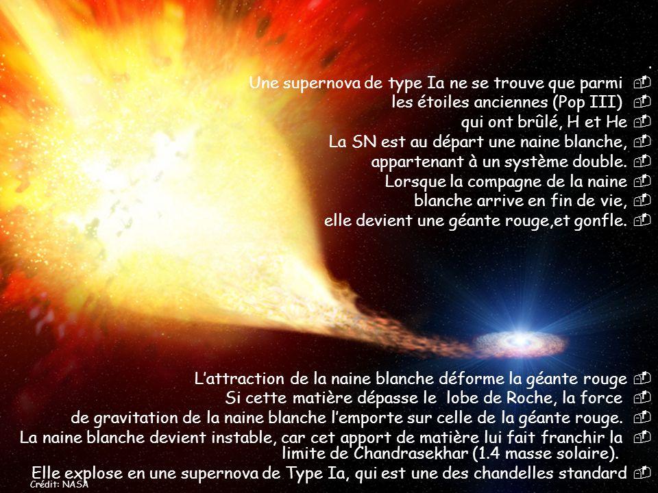 Une supernova de type Ia ne se trouve que parmi