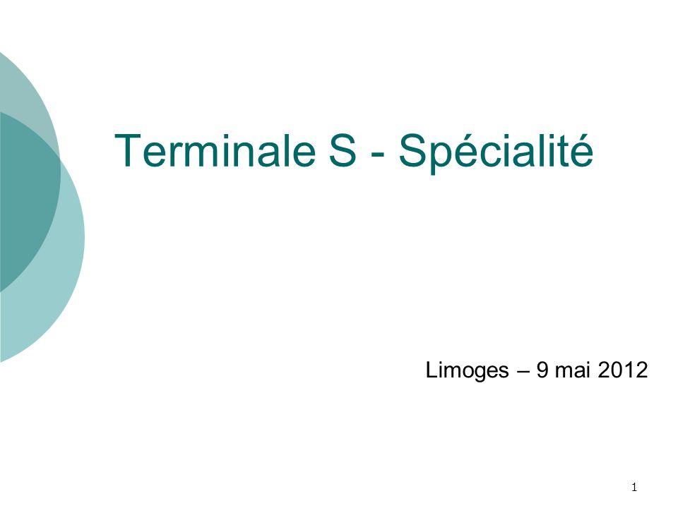 Terminale S - Spécialité
