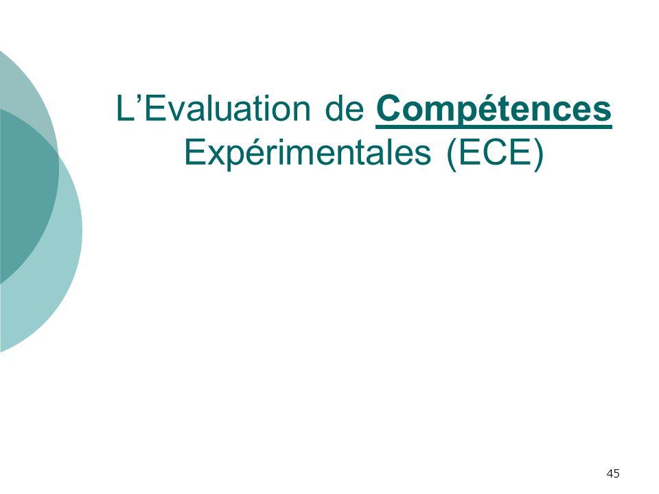 L'Evaluation de Compétences Expérimentales (ECE)