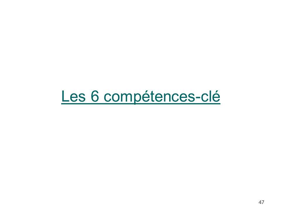 Les 6 compétences-clé