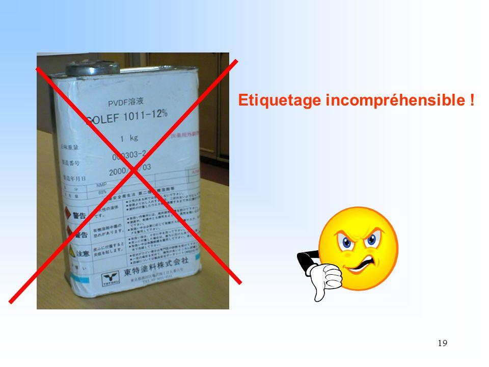 Etiquetage incompréhensible !