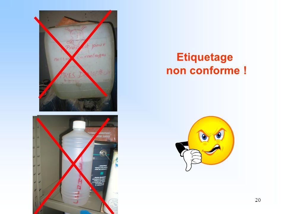 Etiquetage non conforme !