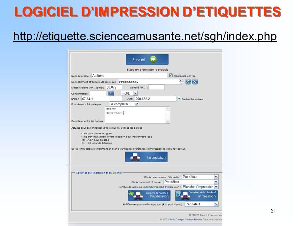 LOGICIEL D'IMPRESSION D'ETIQUETTES