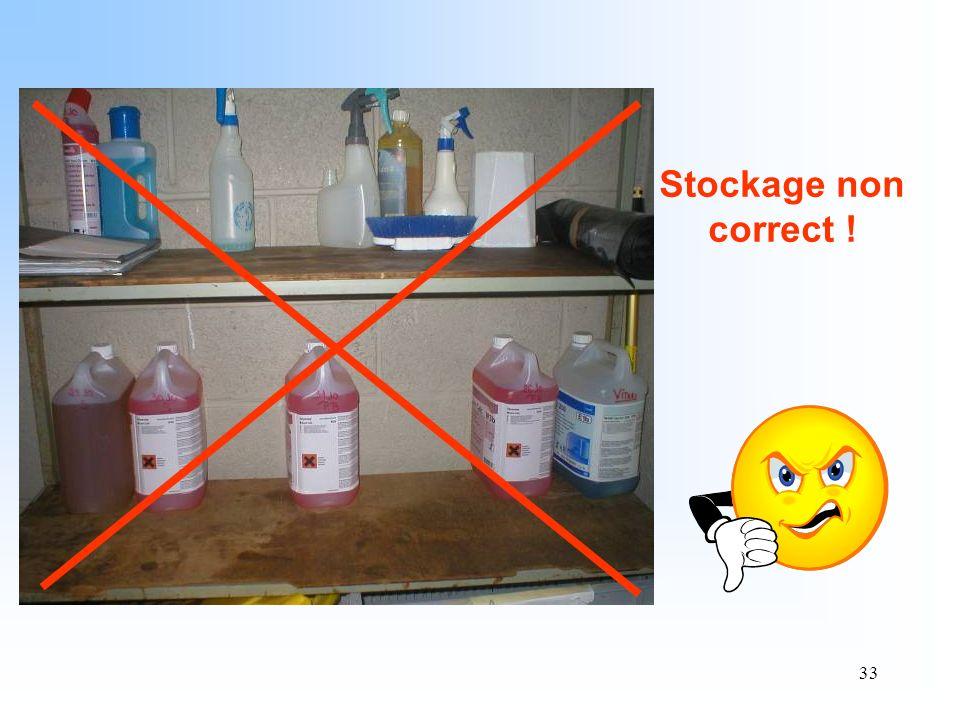 Stockage non correct !