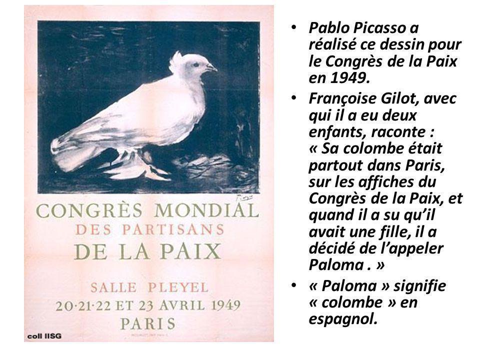 Pablo Picasso a réalisé ce dessin pour le Congrès de la Paix en 1949.