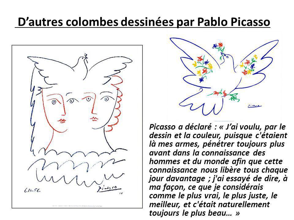 D'autres colombes dessinées par Pablo Picasso