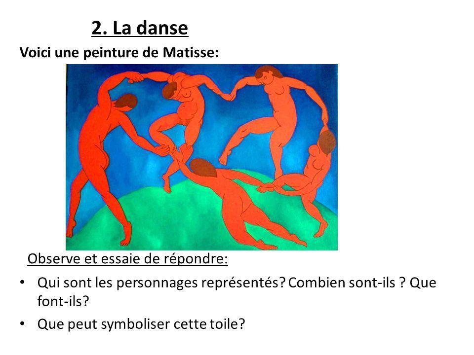 2. La danse Voici une peinture de Matisse: