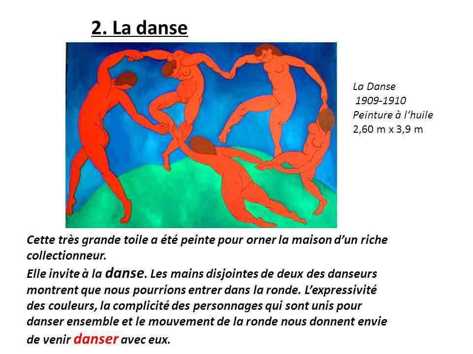 2. La danse La Danse. 1909-1910. Peinture à l'huile. 2,60 m x 3,9 m.