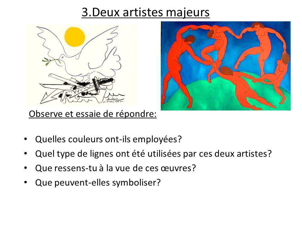 3.Deux artistes majeurs Observe et essaie de répondre: