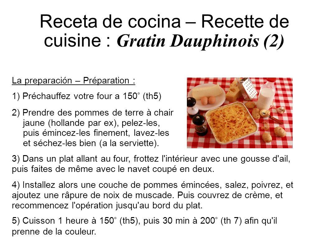 Receta de cocina – Recette de cuisine : Gratin Dauphinois (2)