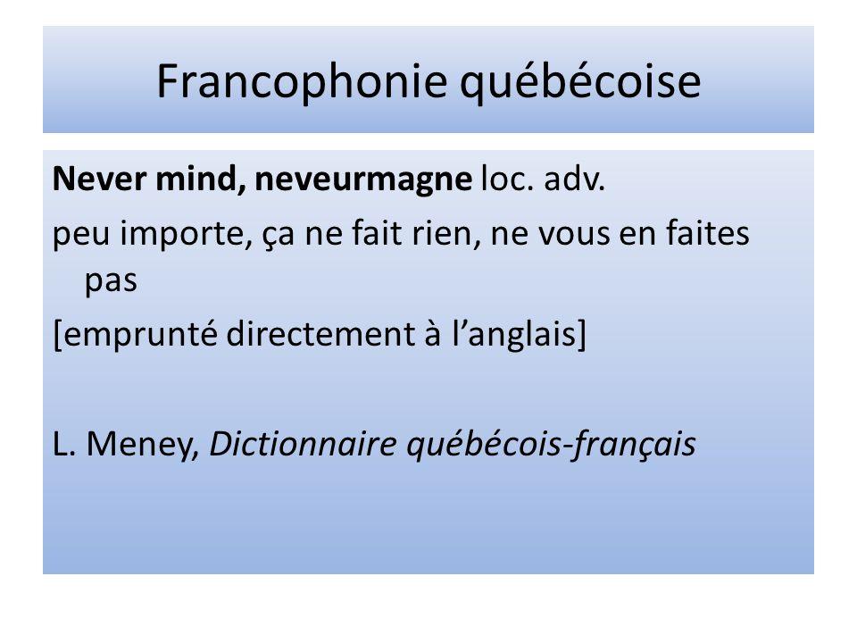 Francophonie québécoise