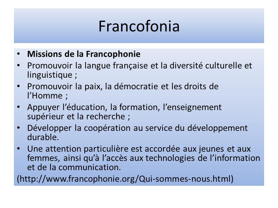 Francofonia Missions de la Francophonie