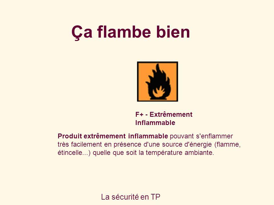 Ça flambe bien La sécurité en TP F+ - Extrêmement Inflammable