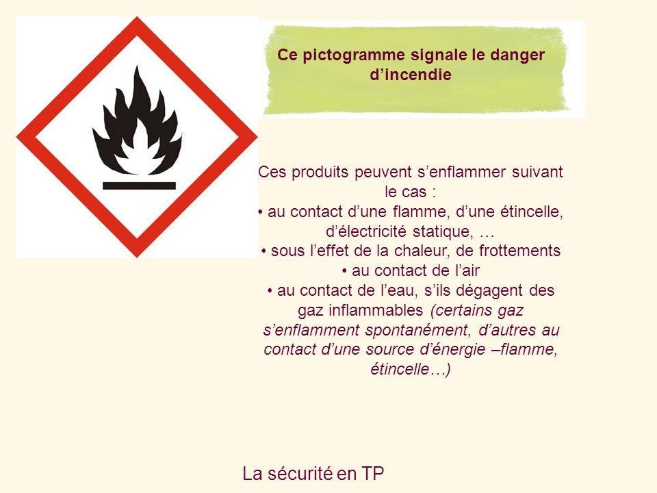 Ce pictogramme signale le danger d'incendie