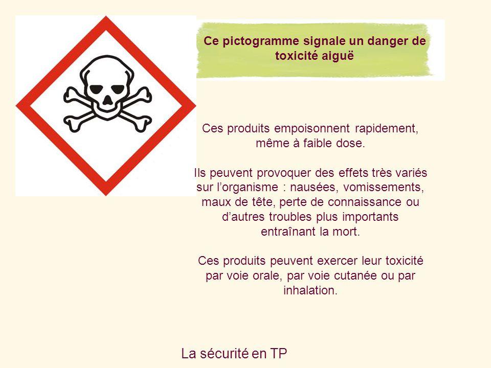Ce pictogramme signale un danger de toxicité aiguë