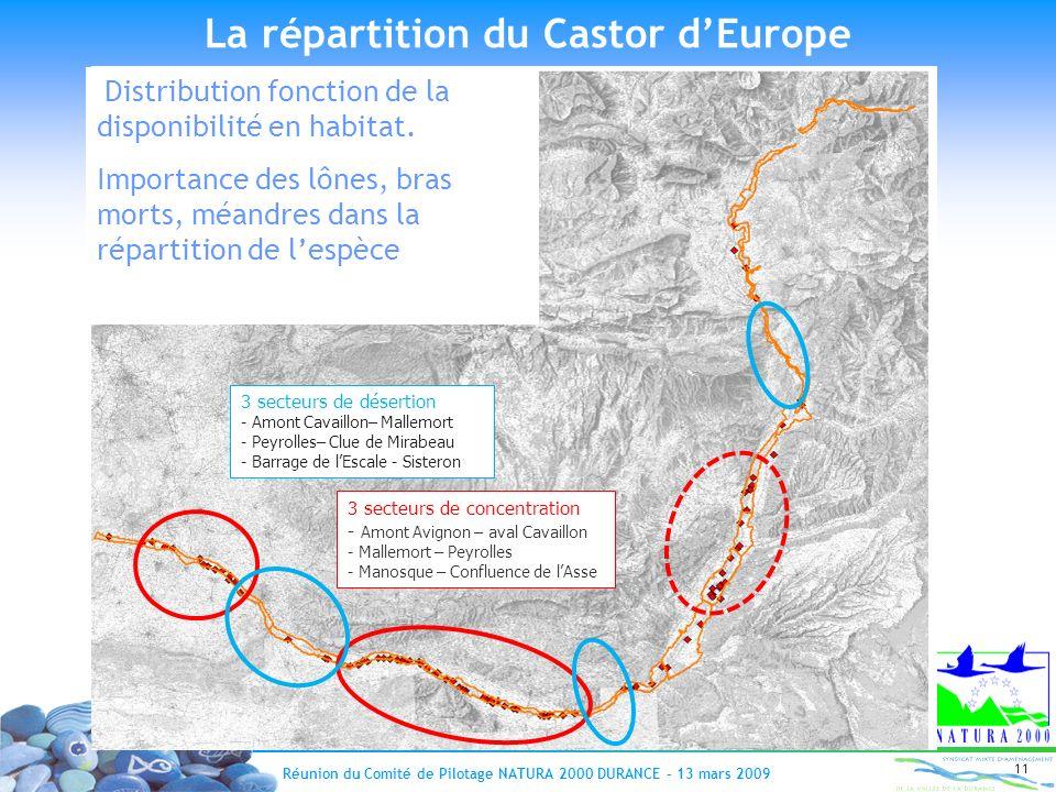 La répartition du Castor d'Europe