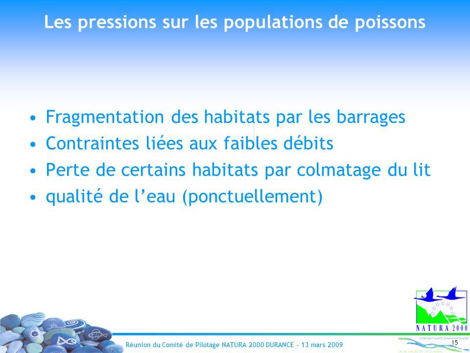 Les pressions sur les populations de poissons