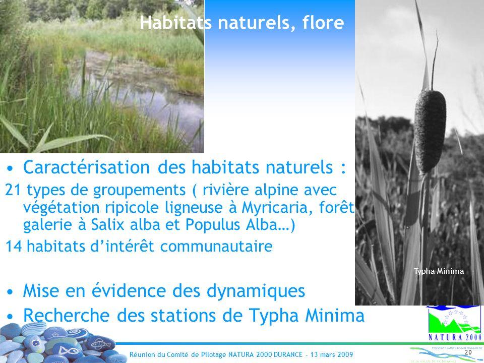 Habitats naturels, flore