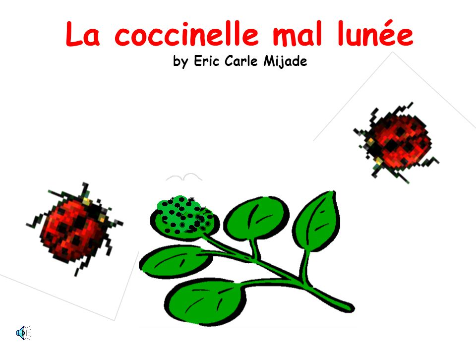La coccinelle mal lunée by Eric Carle Mijade