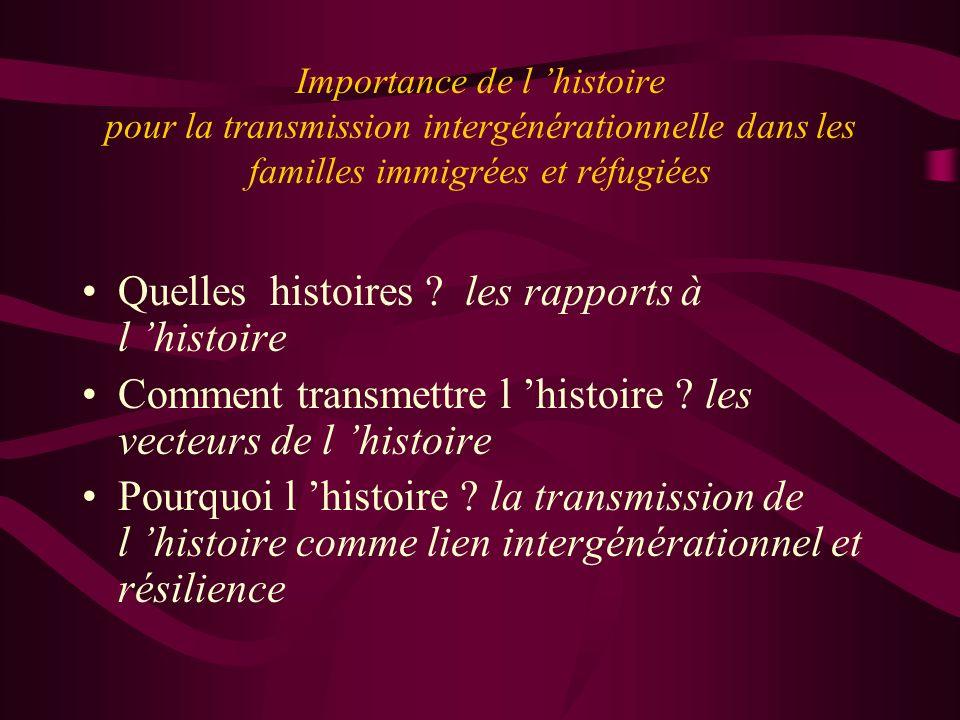 Quelles histoires les rapports à l 'histoire