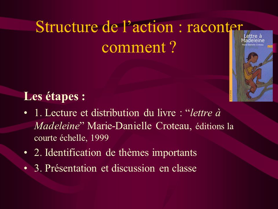 Structure de l'action : raconter comment