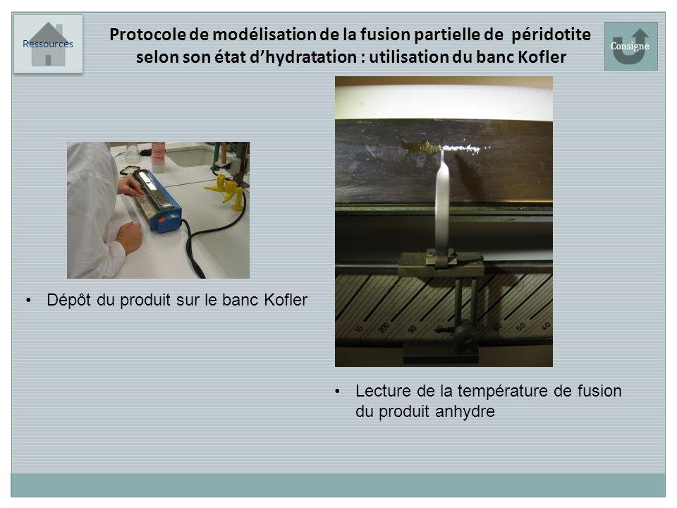 Protocole de modélisation de la fusion partielle de péridotite