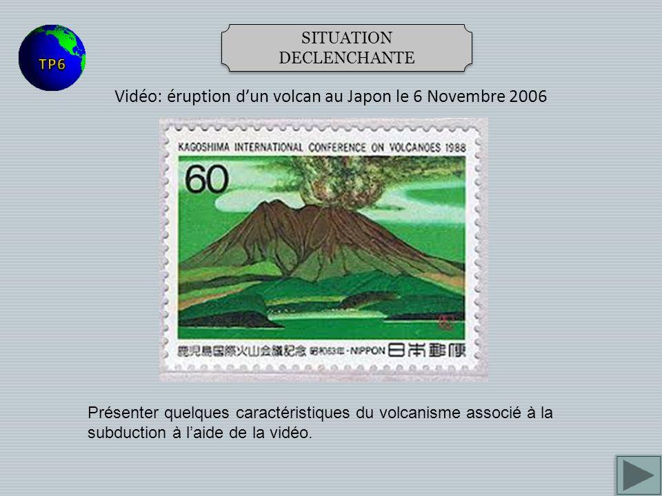 Vidéo: éruption d'un volcan au Japon le 6 Novembre 2006