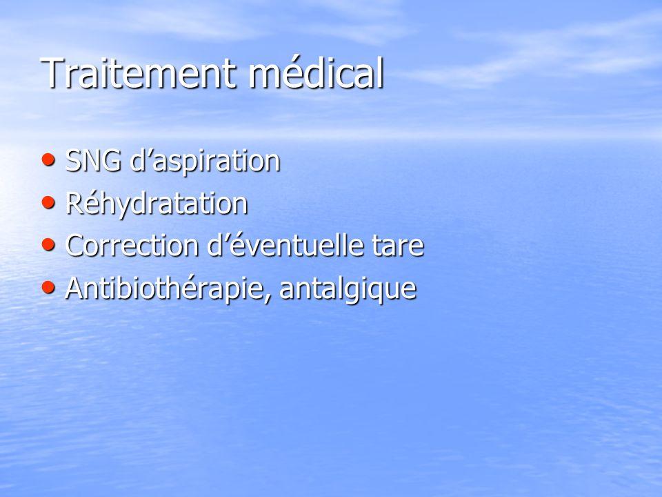 Traitement médical SNG d'aspiration Réhydratation