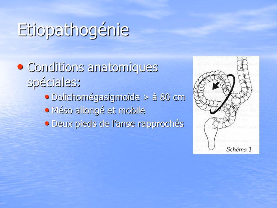 Etiopathogénie Conditions anatomiques spéciales:
