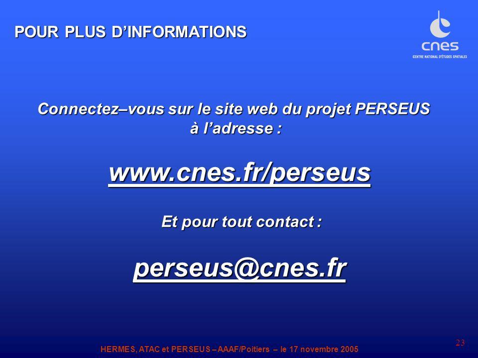 Connectez–vous sur le site web du projet PERSEUS