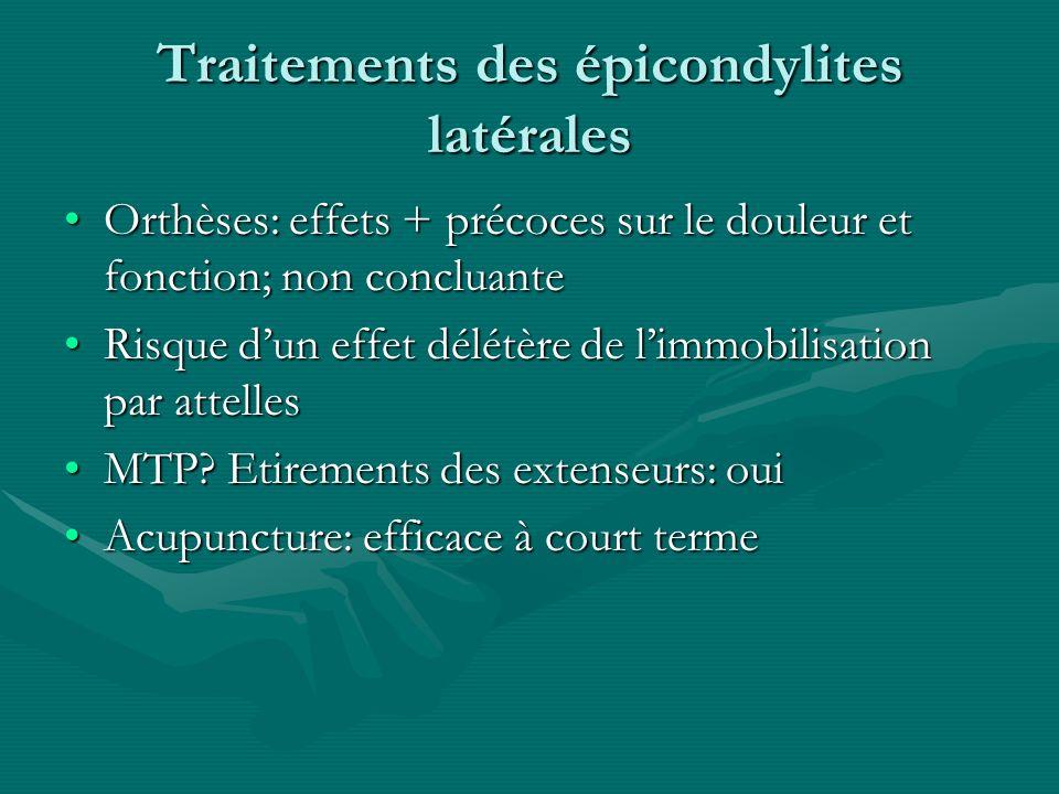Traitements des épicondylites latérales