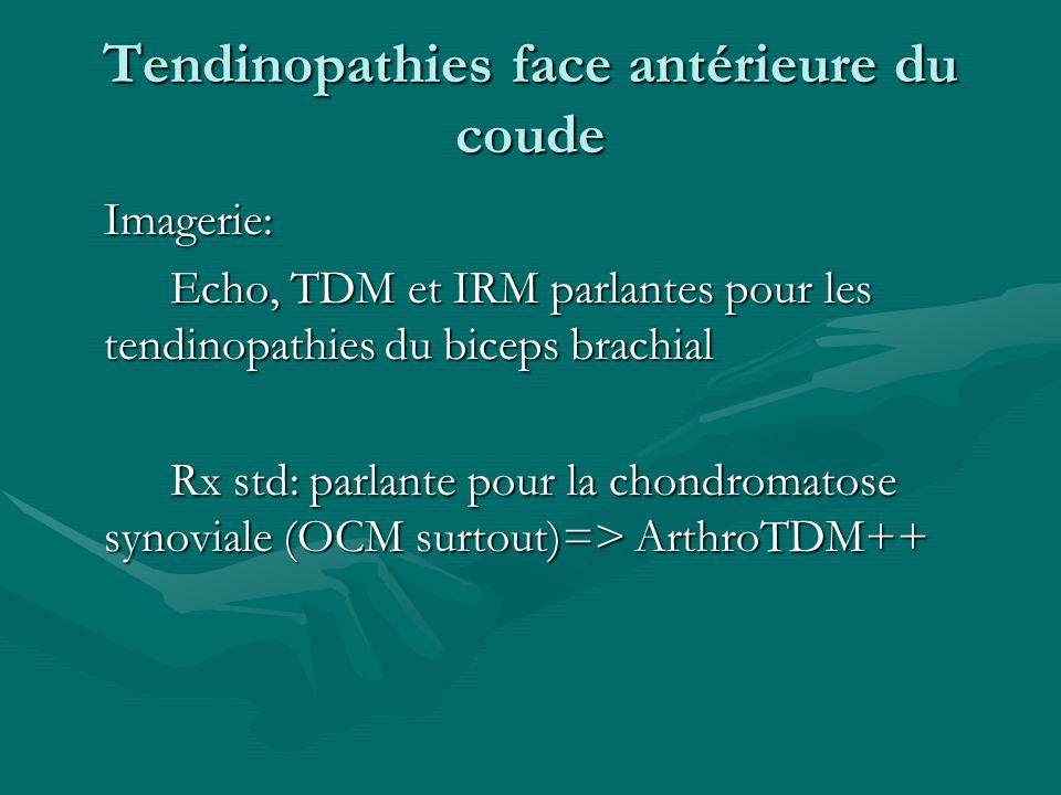 Tendinopathies face antérieure du coude