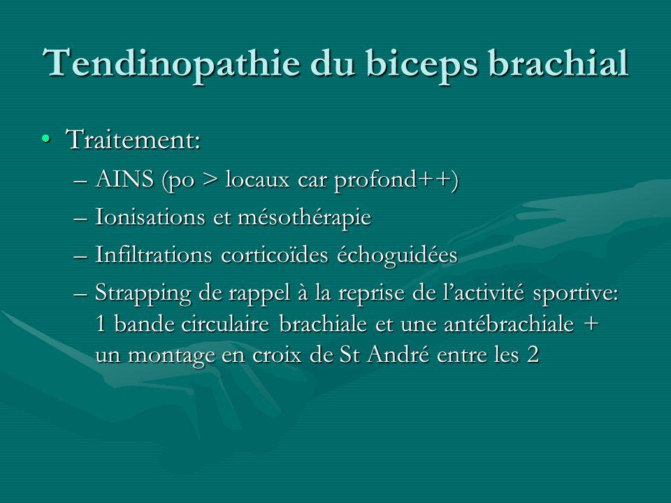 Tendinopathie du biceps brachial
