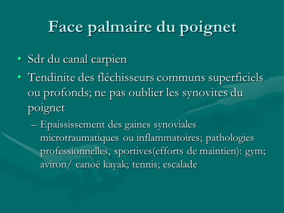 Face palmaire du poignet