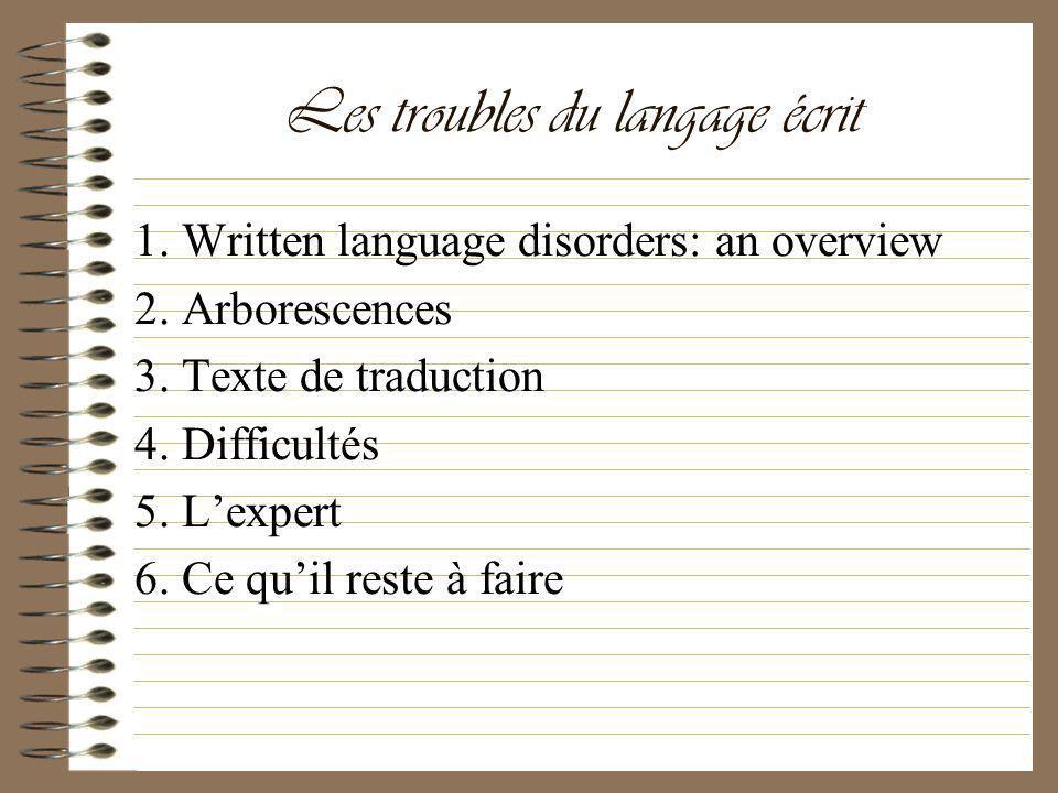 Les troubles du langage écrit