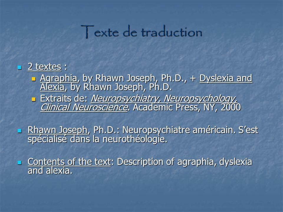 Texte Subject Area Arborescences Problèmes