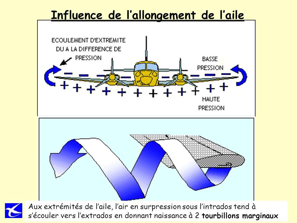 Influence de l'allongement de l'aile