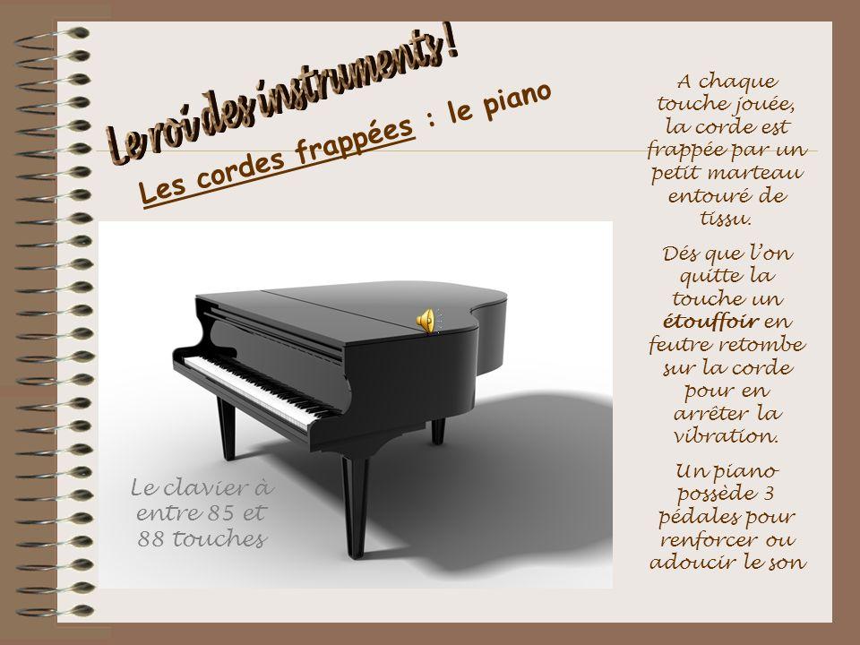 Les cordes frappées : le piano
